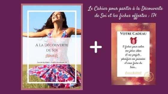 Le Cahier pour partir à la Découverte de Soi et les fiches offertes _ 17€ / Laurie Audibert / Coach Holistique