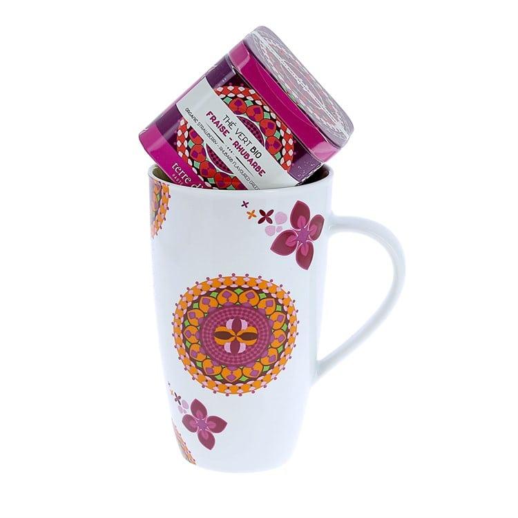 Mug et thé à la fraise / Cadeau de Noël pour Entrepreneuses