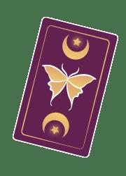 Carte oracle sur fond foncé - Petite / Laurie Audibert / Coach intuitif pour Entrepreneuses Spirituelles