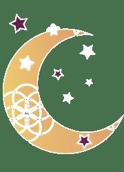 Lune sur fond coloré - Petite / Laurie Audibert / Coach Holistique pour Entrepreneuses Spirituelles