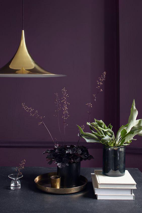 Bureau violet et or / Couleur idéale pour bureau d'entrepreneuse / Coach business