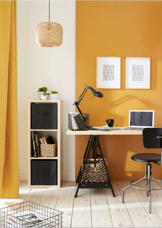 bureau jaune soleil / Couleur à favoriser dans le bureau d'une entrepreneuse