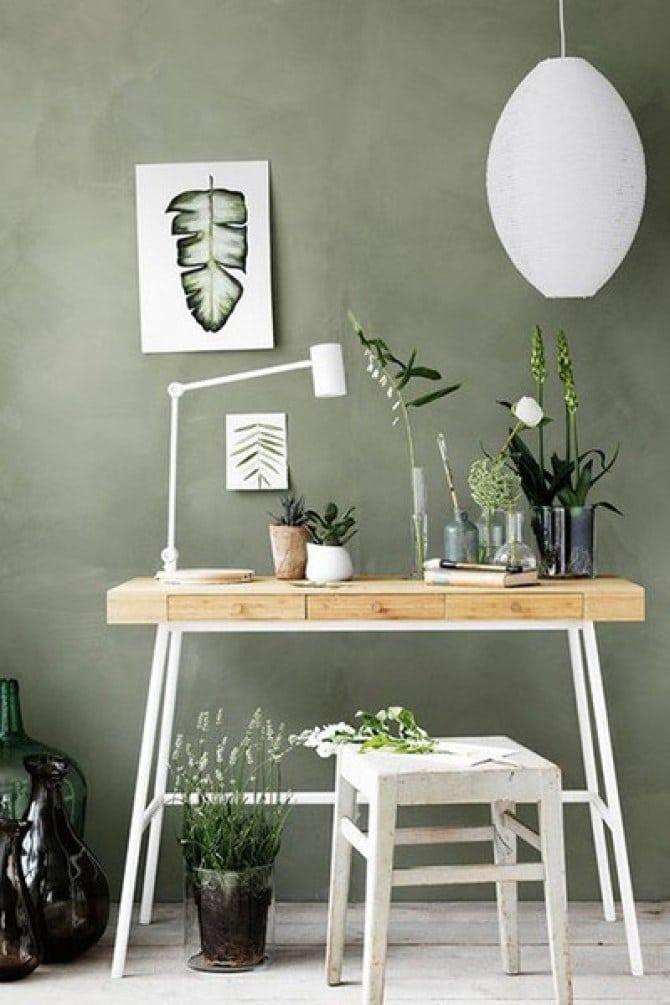 bureau vert sauge / Couleur décoration bureau / Business Coach
