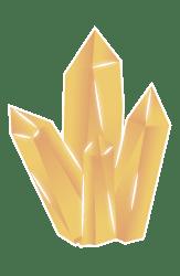 Amas de cristaux sur fond coloré - Petite / Laurie Audibert / Business Witch pour Entrepreneuses
