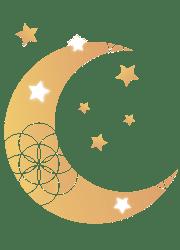 Lune sur fond clair - Petite / Witchy Business / Accompagnement pour sorcière entrepreneuse